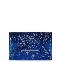 Blue BCBG Harlow Sequined Envelope Clutch
