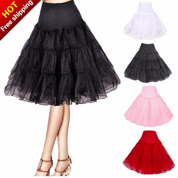 Petticoat Crinoline Vintage Wedding Bridal Petticoat for Wedding Dresses Underskirt Rockabilly Tutu