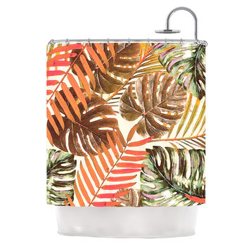 "Alison Coxon ""Jungle Rust"" Orange Brown Shower Curtain"