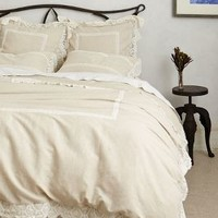 Lovenia Embellished Duvet by Anthropologie Neutral