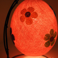 Strawberry pink cute sweet baby Cotton ball lantern with mix flower lamp lantern bed head lamp handmade display light home present decor