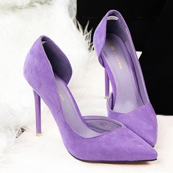 2016 Brand Women Pumps Sexy High Heel Shoes Women Pointed Toe Ladies High Heels Shoes Black