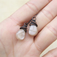 Real moonstone earrings, peach moonstone jewelry, drop gemstone earrings, traditional wedding stone jewellery
