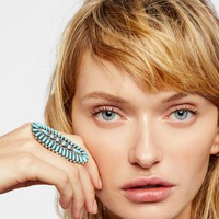 Free People Sterling Turquoise Needlepoint Ring