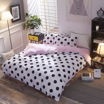 BEST.WENSD princess endless lattice bedding set flower duvet cover Simple sheet pillowcase Home textiles-king bed spreads sets