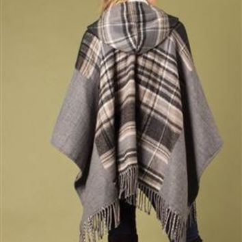 Mad About Plaid Hooded Wrap by Simply Noelle