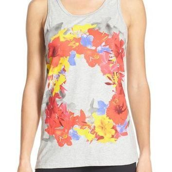 adidas by Stella McCartney 'Essentials' Floral Print Cotton Tank | Nordstrom