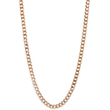 Mister Facet Curb Chain - Rose Gold