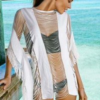 Loose Tassel Bikini Cover Up