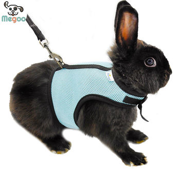 3 Colors Hamster Rabbit Harness And Leash Set Ferret Guinea Pig Small Animal Pet Walk Lead S M L