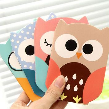 1X Kawaii Cute Owl Small Portable Planner Diary Notebook Writing Paper Student Stationery School Office Supply