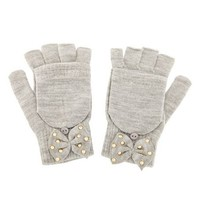STUDDED BOW CONVERTIBLE GLOVES