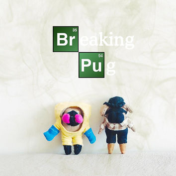 Breaking Bad doll, Breaking Pug Miniature Doll, OOAK art doll, jesse pinkman,