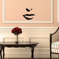 Housewares Vinyl Decal Beautiful Girl Face Home Wall Art Decor Removable Stylish Sticker Mural Unique Design for Beauty SPA Salon Room