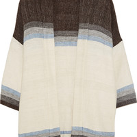 LemLem - Debizaza striped cotton, merino wool and mohair-blend cardigan