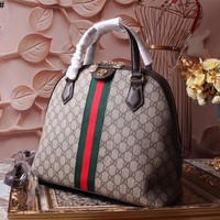 GUCCI WOMEN'S 2018 NEW STYLE LEATHER OPHIDIA HANDBAG INCLINED SHOULDER BAG