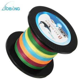 Bobing Multicolor 500M PE Braided Fishing Line 5LB-80LB Super Strong 4 Stands Multifilament Fish Wire String Cord