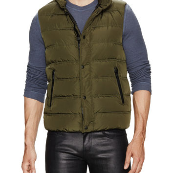 Mackage Men's Hooded Puffer Vest - Green -