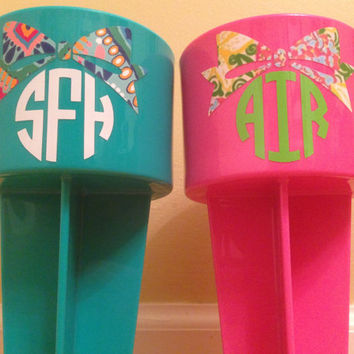 Lilly Pulitzer Spikers available with monogram and bow or hat completely customizable with other designs