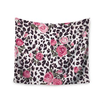 """""""Ferocious Floral"""" Wild Flowers Wall Tapestry"""