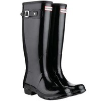 Hunter Women's Original Tall Gloss Wellies - Black Clothing - FREE UK Delivery