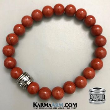 FATHER'S LOVE: Red Jasper | DAD Bead | Yoga Chakra Bracelet