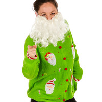 Surprised Santa Ugly Christmas Sweater