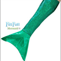 Mermaid Tail Skin by Fin Fun - NO MONOFIN - Sparkle Costume Tail - All Colors