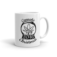 Limited Edition Cannabis Christmas 2016 Ceramic Coffee Mug by T420G from T420G Stash & Style