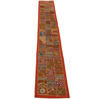 Recycled Fabric Indian Patchwork Runner Tapestry