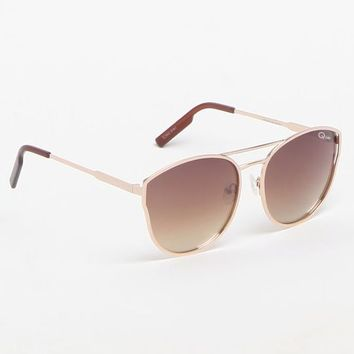 Quay Cherry Bomb Gold & Silver Sunglasses at PacSun.com