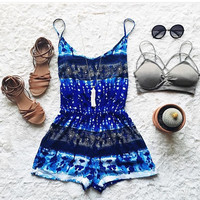 A Boho Print Romp in Blue