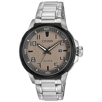 Citizen AW1461-58H Men's AR Eco-Drive Grey Dial Stainless Steel Bracelet Watch