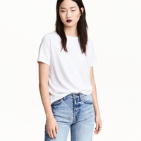 Cotton-blend T-shirt - from H&M