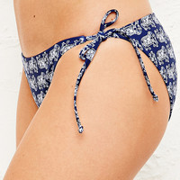 Side-Tie Bikini Briefs in Elephant Print - Urban Outfitters