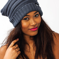 Knitty-Gritty-Beanie BLACK CHARCOAL TAUPE - GoJane.com