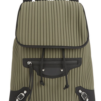 Balenciaga - Giant Traveller leather-trimmed neoprene backpack