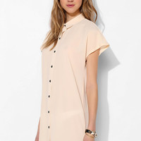 Sparkle & Fade Cutout-Back Shirtdress - Urban Outfitters