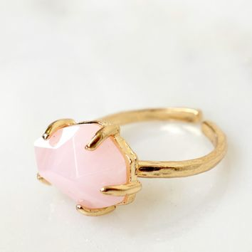 Oval You Stone Ring Pink
