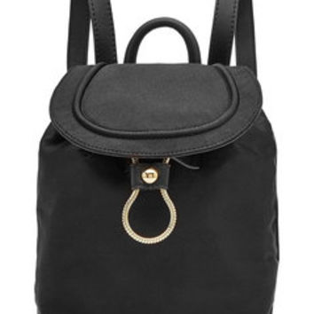 Satin Backpack with Leather - Diane von Furstenberg | WOMEN | US STYLEBOP.com