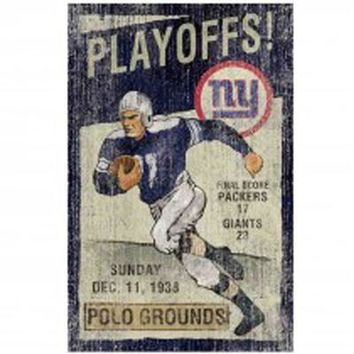 Ny Giants Vintage Wall Art