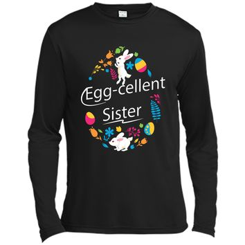 Family Matching Easter Outfit For Sister Long Sleeve Moisture Absorbing Shirt
