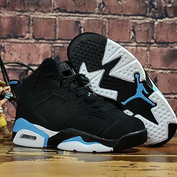 Kids Air Jordan 6 Black/blue Sneaker Shoe Size Us 11c 3y | Best Deal Online