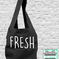 Fresh Tote Bag - Sling Bag - Direct Dye Bag - Comfort Colors