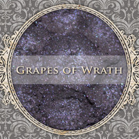 GRAPES OF WRATH Mineral Eyeshadow: 5g Sifter Jar, Smokey Dark Purple, Natural Cosmetics, Shimmer Eyeshadow