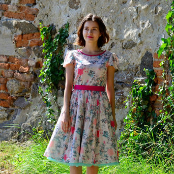 Women Spring Tulle Dress/ Garden Party/ Tea Party/ Casual/ Anniversary/ Rehearseal Dinner/ Bridesmaides Dress