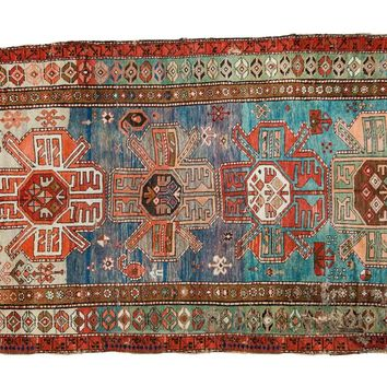 5x8 Antique Southern Caucasian Rug