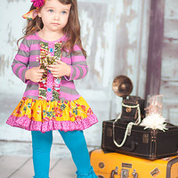 Giggle Moon Mabel Dress and Legging Golden Crown PREORDER