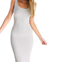 Plain Strap Sleeveless Knit Dress