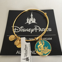 Disney Jasmine Unlock the Magic Bangle by Alex and Ani Gold Finish New with Tags